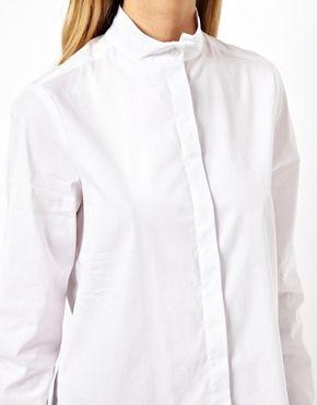 Image 3 of ASOS Shirt with Grandad Collar | Shirts, Asos, Fashi