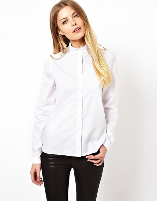 ASOS Shirt with Grandad Collar | AS