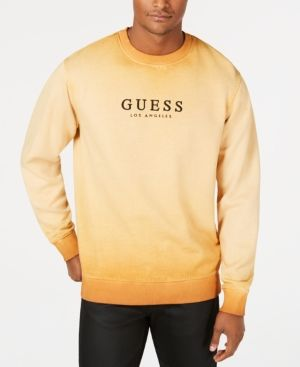 Guess Originals Men's Logo Graphic Sweatshirt - Brown M | Mens .