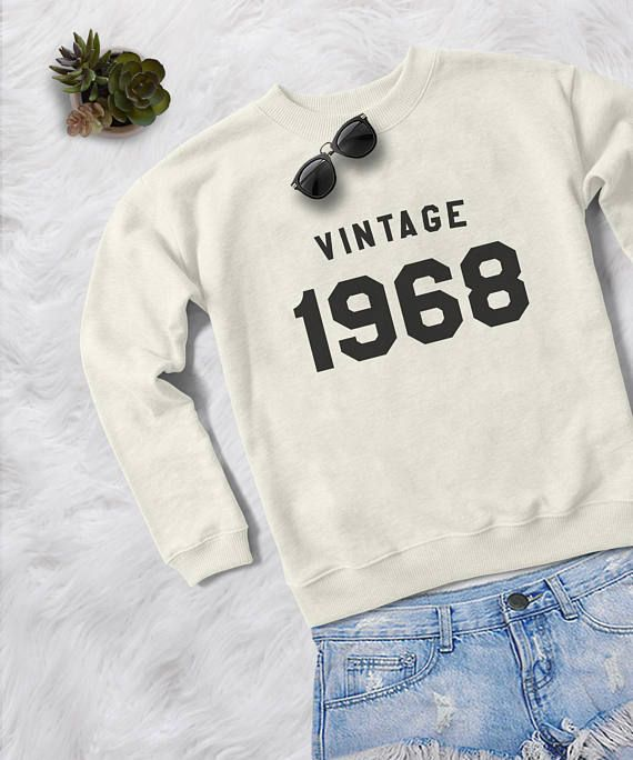 50th birthday gift for women graphic sweatshirt 1970 birthday .