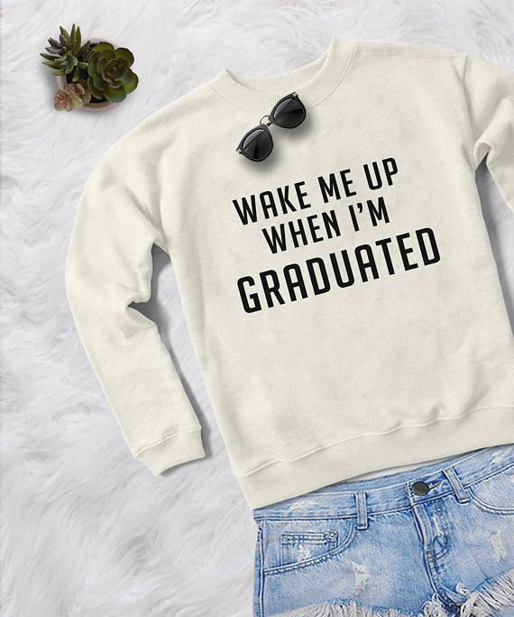 Graduation gift for women crewneck sweatshirt graphic sweater phd .