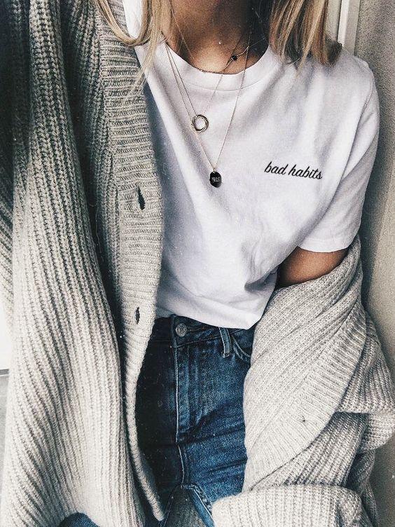 Bad Habits T-shirt | Tumblr Shirt, Tumblr Clothes, Aesthetic Tees .