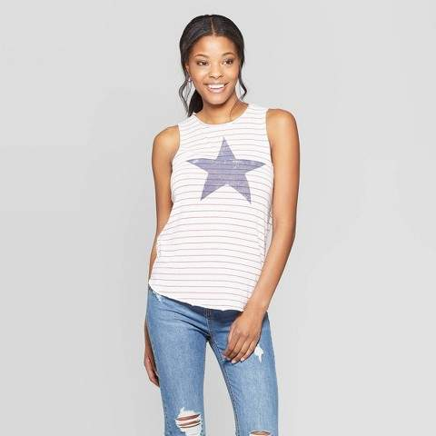 Grayson Threads Women's Star & Stripe Graphic Tank Top - Grayson .