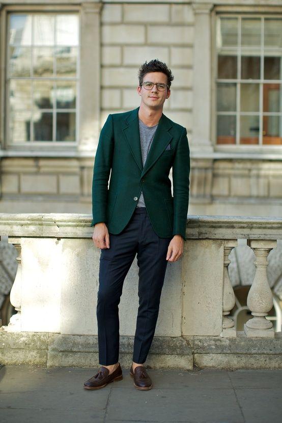 Green Blazer. | Green pants men, Mens fashion blog, Well dressed m