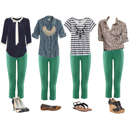 cardigan junkie | Green pants outfit, Fashion, Kelly green pan