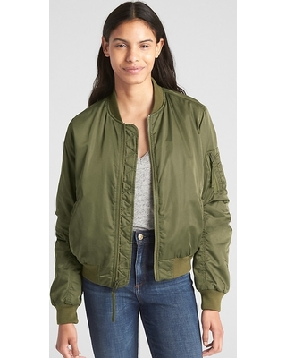 Amazing Deals on Gap Womens Classic Bomber Jacket Army Jacket .