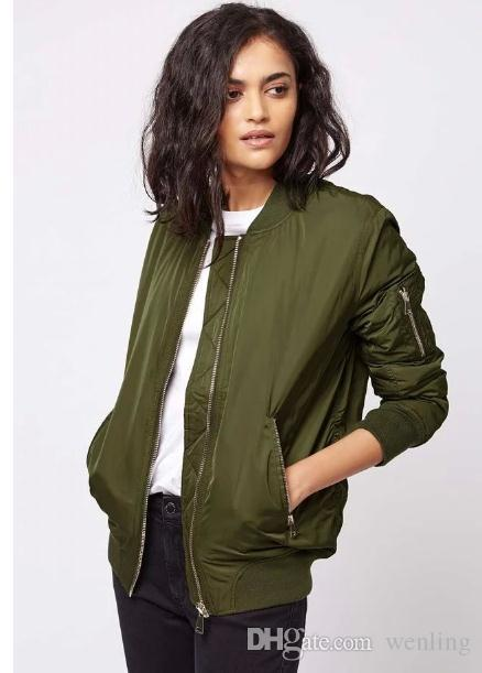 Winter Flight Army Green Bomber Jacket Women Jacket And Women'S .