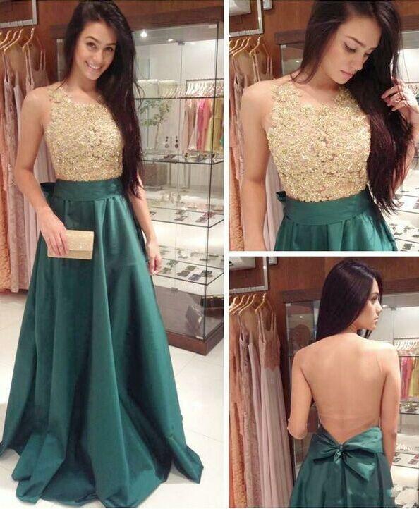 Free Shipping Lace Prom Dress, Sexy Deep Green Graduation Dress .