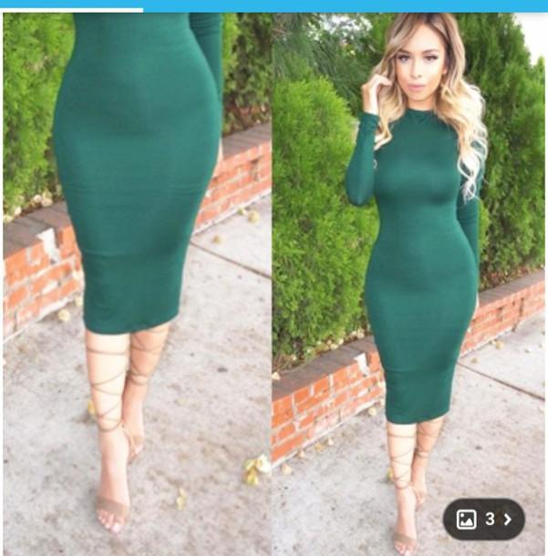 dress, this exact color, green dress, green, bodycon, bodycon .