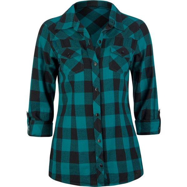FULL TILT Buffalo Plaid Womens Flannel Shirt 150732512 | Blouses .