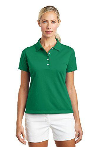 NIKE GOLF Ladies Tech DriFIT UV Sport Shirt 203697 Lucky Green M .