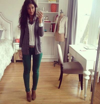 dark green skinny jeans | Fashion, Green skinny jeans, Teal pants .