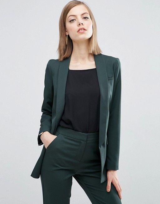 ASOS Premium Tailored Suit in Forest Green | Женские деловые .