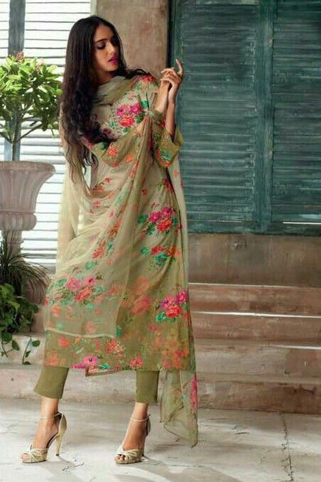 Olive green | Indian outfits, Indian designer suits, Indian .