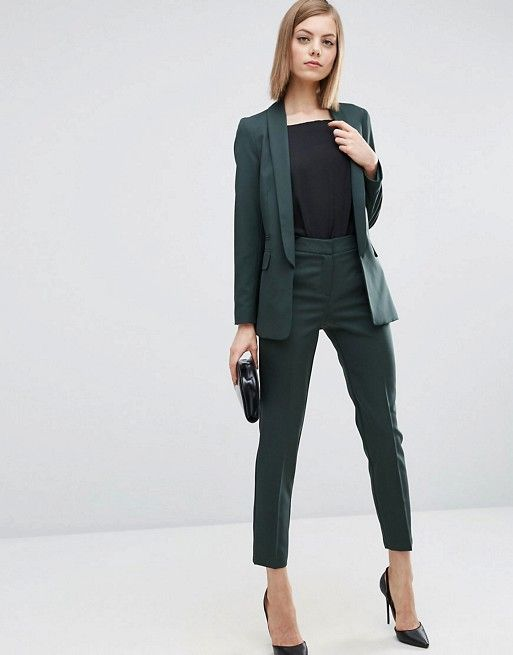 ASOS Premium Tailored Suit in Forest Green | outfit ideas for work .