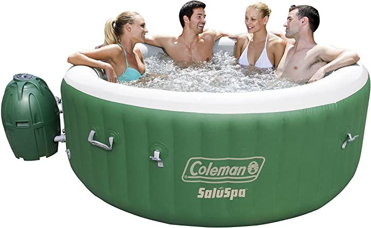 Amazon.com : Coleman SaluSpa Inflatable Hot Tub Spa, Green & White .