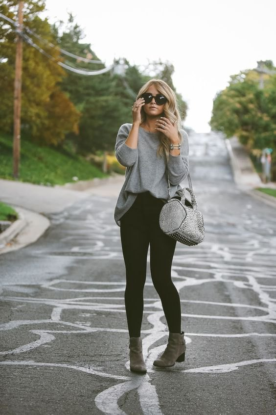 How to Style Grey Ankle Boots: Best 15 Stylish & Cozy Outfit Ideas .