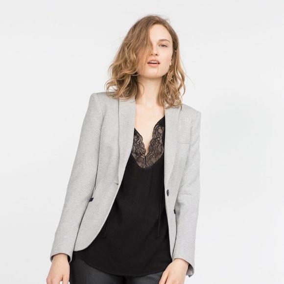 Zara Jackets & Coats | Grey Blazer Woman | Poshma