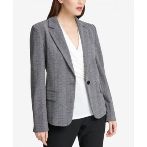 Women DKNY One-Button Blazer The perfect embodiment of elegance .