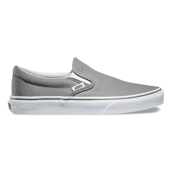 Slip-On | Shop Classic Shoes | Grey slip on vans, Slip on sneakers .