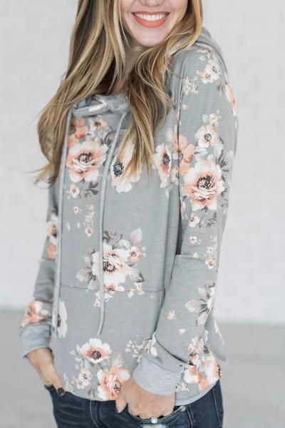 Hailey Hoodie - Heather Grey \ cute hoodie, fall outfit, easy .