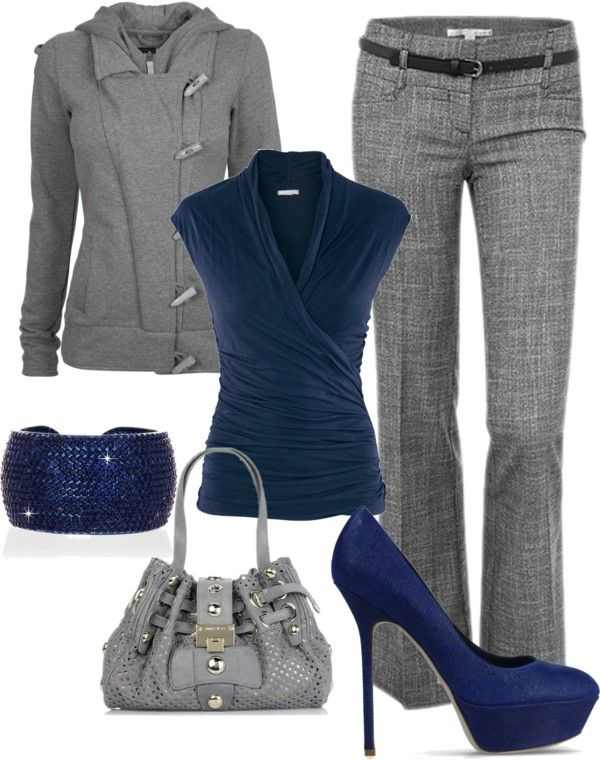 Feel'n Blue in 2020 | Work fashion, Fashion, Polyvore outfi
