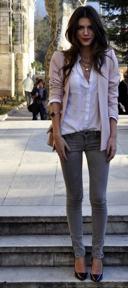 119 Best HOW TO WEAR: fuschia pink blazer images | How to wear .