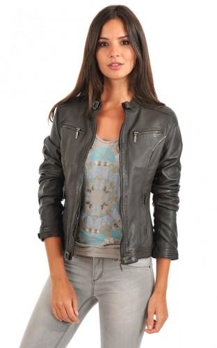 Grey Leather Jackets For Women 2018 – Wearing Casu