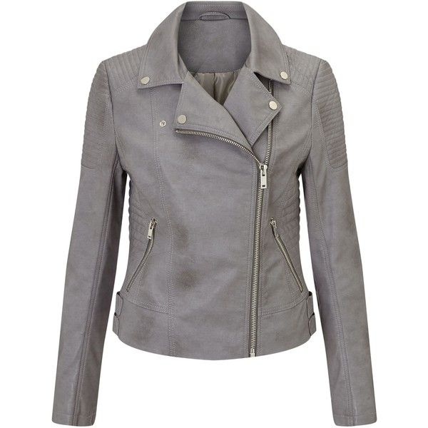 Gray Leather Jacket For Women | Outdoor Jack
