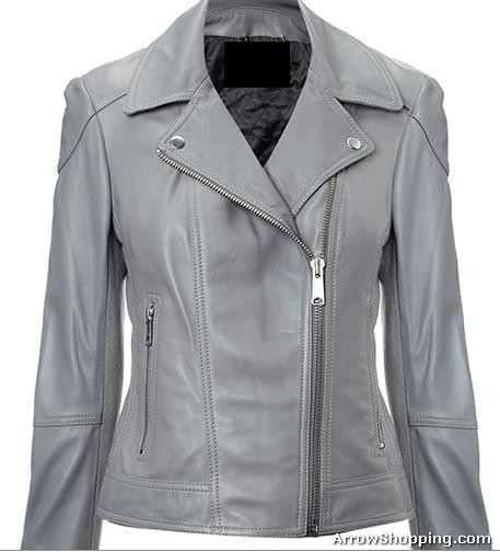 Grey Leather Jacket Womens | Outdoor Jack