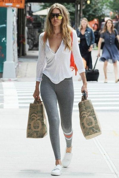 How to Wear Grey Leggings: Best 15 Cozy & Slimming Outfit Ideas .