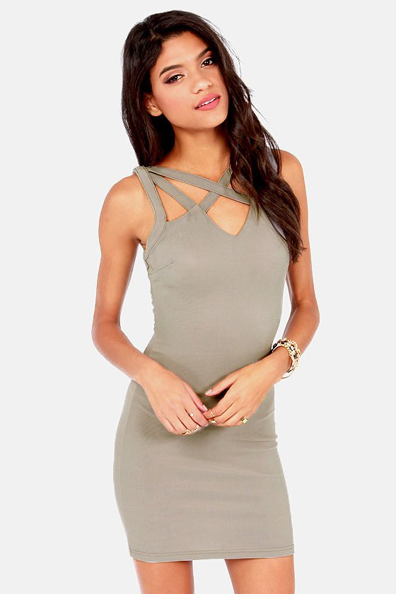 15 Low-Key Sexy Grey Bodycon Dress Outfit Ideas - FMag.c