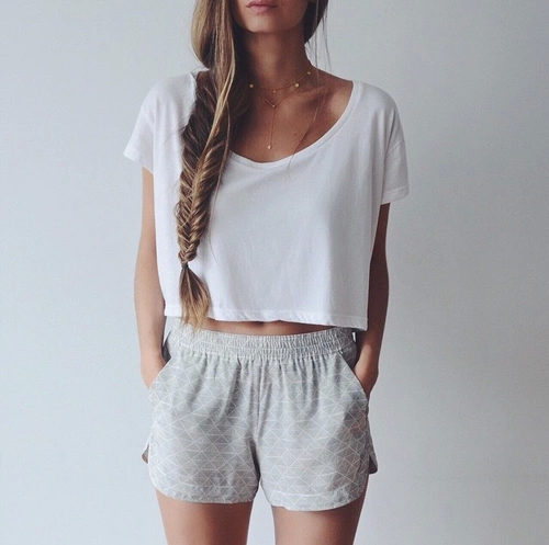 women sweat shorts outfit - Google Search | Fashion, Back to .
