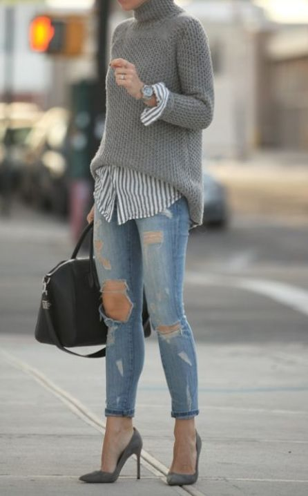 19 Cheap Turtleneck Oversized Sweater Outfit Ideas | Fashion .