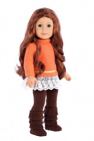Tomboy - 4 Piece Doll Outfit - Jeans Jacket, Grey Sweatpants, T .