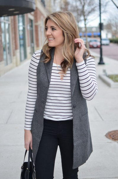 How to Style Grey Vest: 15 Cozy & Artistic Outfit Ideas for Ladies .