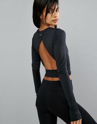 Under Armour Crop Top With Open Back | Fashion, Active wear for .