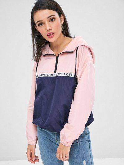 Love Half Zip Windbreaker Hoodie. Cute Sweatshirts Cool .