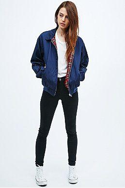Vintage Renewal Harrington Jacket in Navy | Bomber jacket women .
