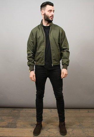 Vintage Style Green Harrington Jacket | Bomber jacket outfit .
