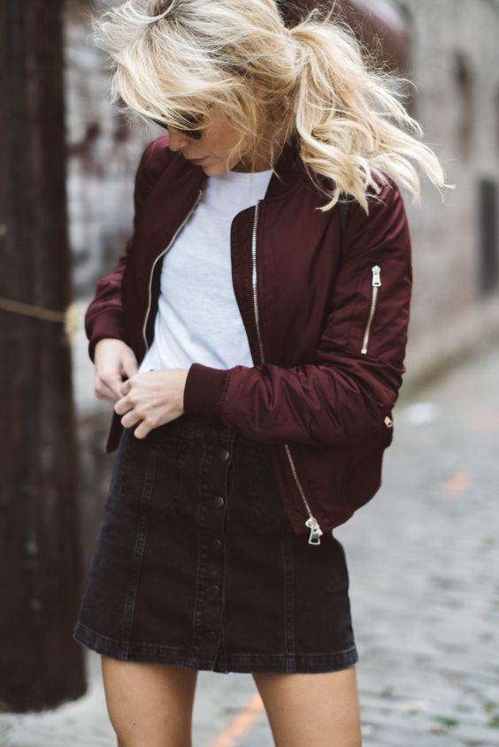 Outfits with Bomber Jackets-13 Ways to Style a Bomber Jack