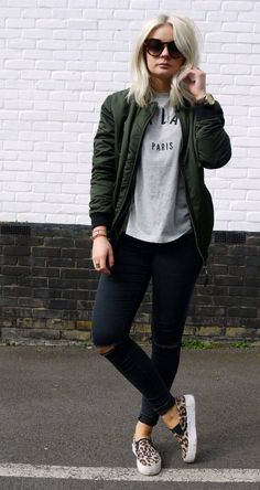 30 Best Women Bomber Jacket Outfit images | Bomber jacket outfit .