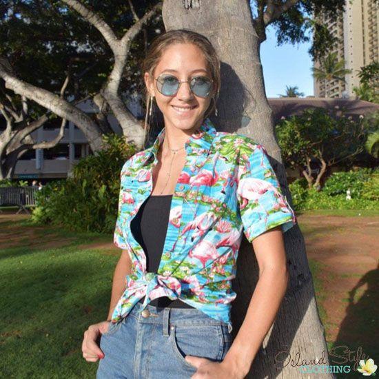 Pin by Shae Biron on Hawaiian Shirts | Hawaiian shirt women .