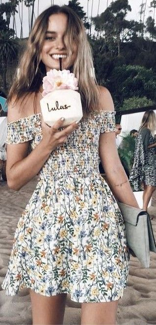 summer #beach #outfits | Little Floral Dress | Hawaii outfits .
