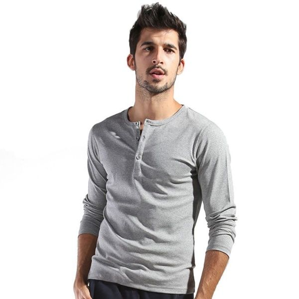 40 Best Henley Shirt Outfit Ideas for Men | Shirt outfit men, Long .