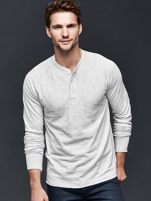Solid henley | Gap | Mens fashion rugg