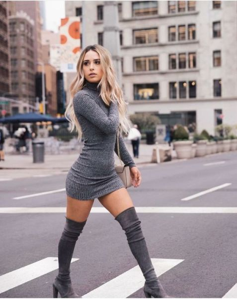 60+ Thigh High Boots Outfit Street Style Ideas 4 – Five