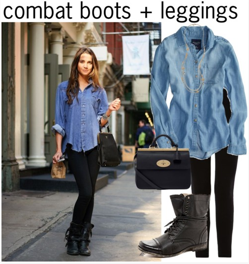 Combat Boots + Leggings, 3 Ways to Style Combat Boots to Make the .