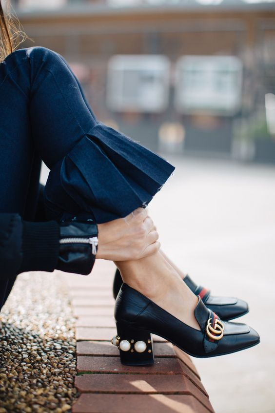 Trending: Pleats Please | Fashion, Gucci shoes, Pearl sho