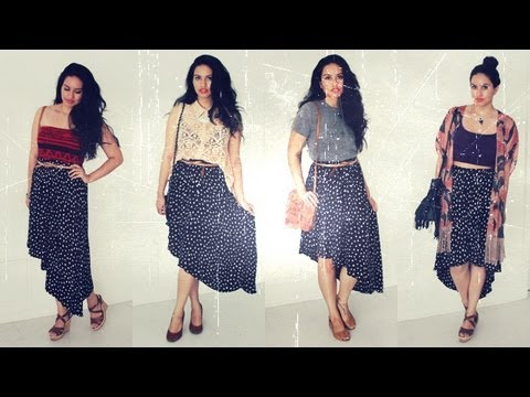 High-Low Skirt Outfit Ideas - YouTu